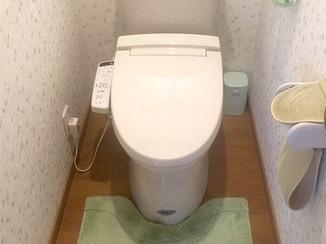 トイレリフォーム トイレのみ交換でも明るい空間に