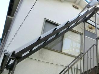 エクステリアリフォーム 急勾配でもしっかり施工!より耐久性の高い階段屋根