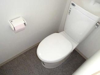トイレリフォーム 階段下のスペースを活かし広々とした洋式トイレに