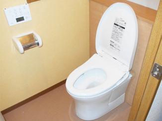 バスルームリフォーム 見栄え良く、内装が映える仕上がりのタンクレス風トイレ