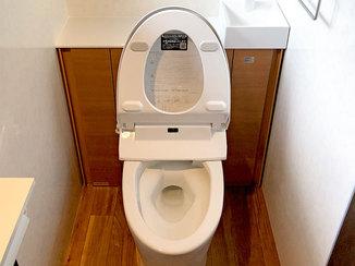 トイレリフォーム 予算を抑えながらも掃除しやすくグレードアップしたトイレ